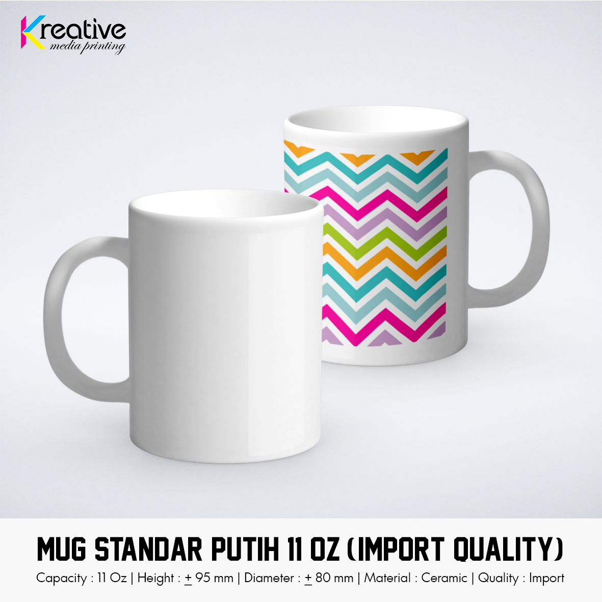 Cetak MUG Standar Putih (Import Quality)