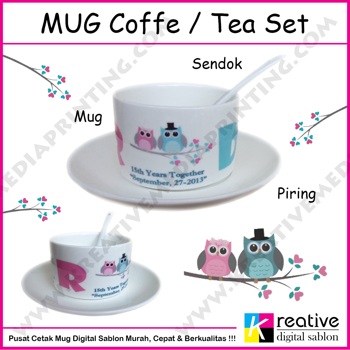 Cetak Mug Coffe Tea Set