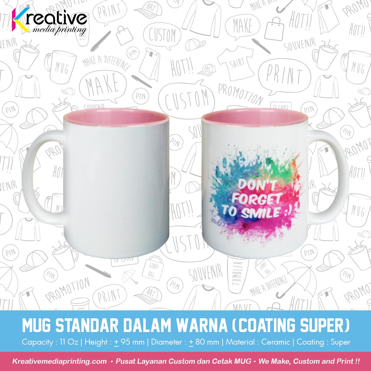 Mug Standar Dalam Warna (Coating Super) (1)