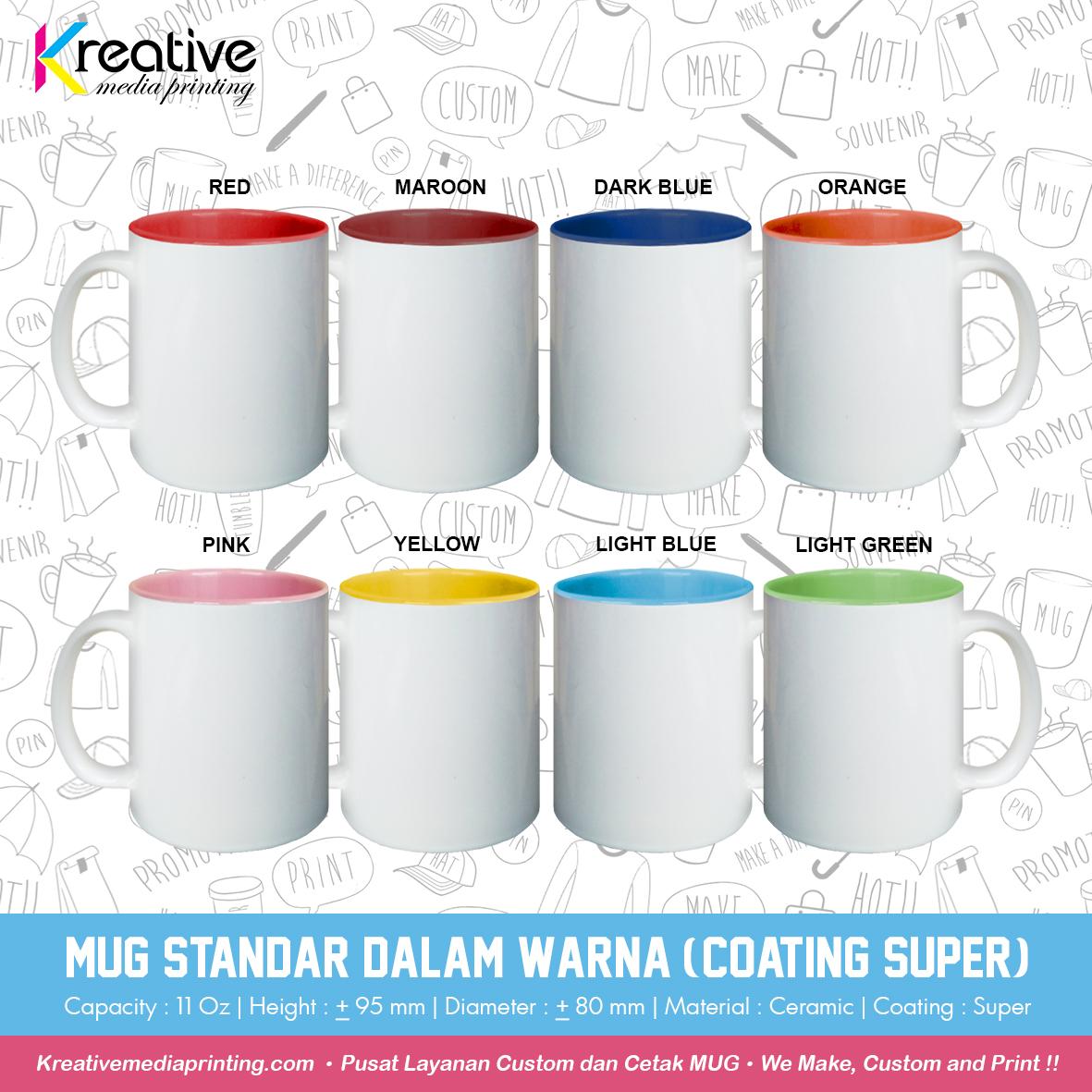 Mug Standar Dalam Warna (Coating Super) (2)
