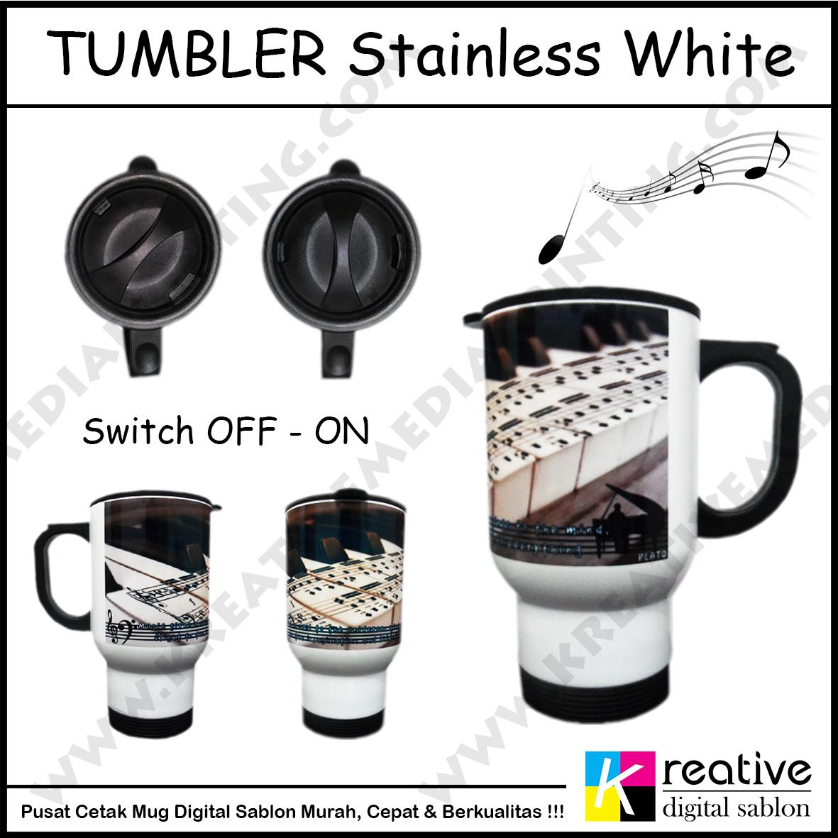 Cetak Tumbler Stainless White